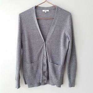 Madewell | Spring Weight Gray Cardigan Sweater